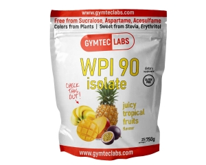 WPI 90 ISOLATE juicy tropical fruits flavor 750g